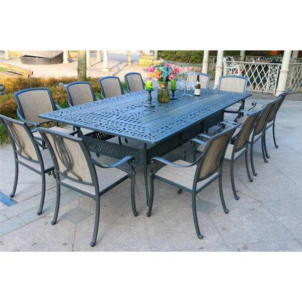 Myles Aluminum 13 Piece Dining Set