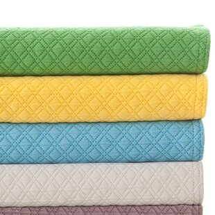 Diamond Matelasse Cotton Coverlet Collection