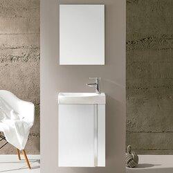 """Bathroom Vanity Sets varick gallery kegley 18"""" single bathroom vanity set with mirror"""