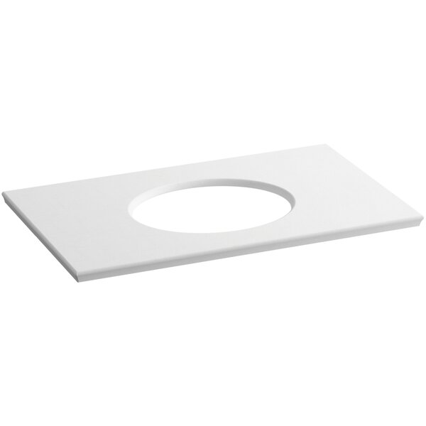 Solid/Expressions Single Verticyl Oval Cut out 37 Single Bathroom Vanity Top by Kohler