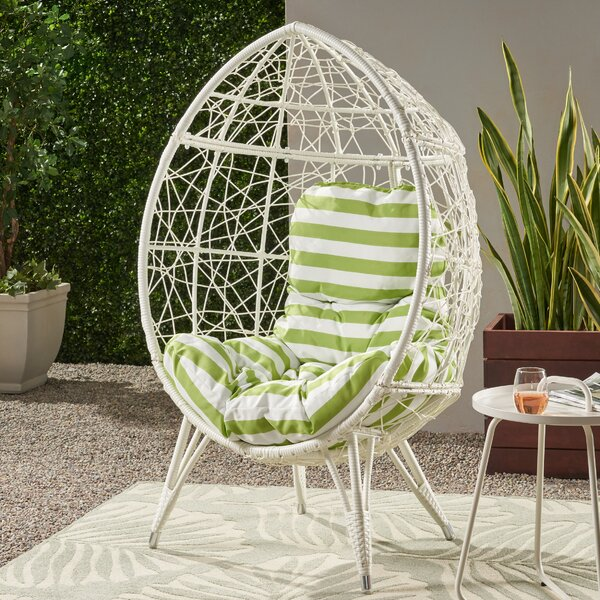 Burnam Wicker Teardrop Swing Chair by Bloomsbury Market