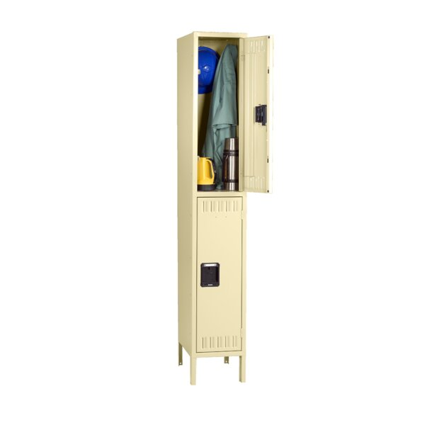 2 Tier 1 Wide School Locker by Tennsco Corp.