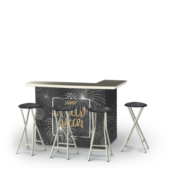 Wojtala New Year Fireworks Snowflakes 5-Piece Bar Set by East Urban Home East Urban Home