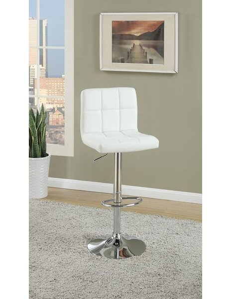 Dove Springs Adjustable Height Swivel Bar Stool (Set of 2) by Orren Ellis