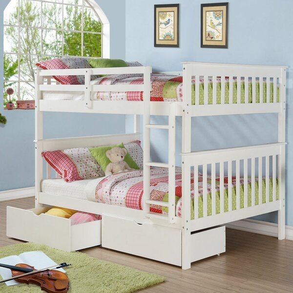 Clemon Mission Full Over Full Bunk Bed with Drawers by Harriet Bee