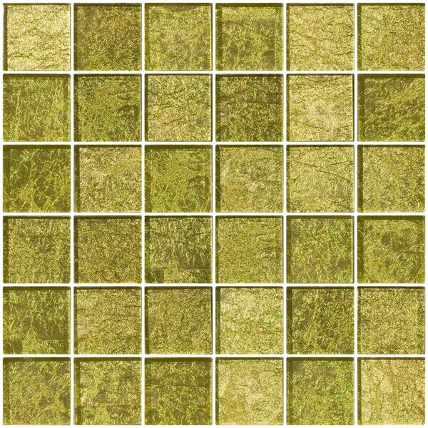 2 x 2 Glass Mosaic Tile in Golden Dew by Susan Jablon