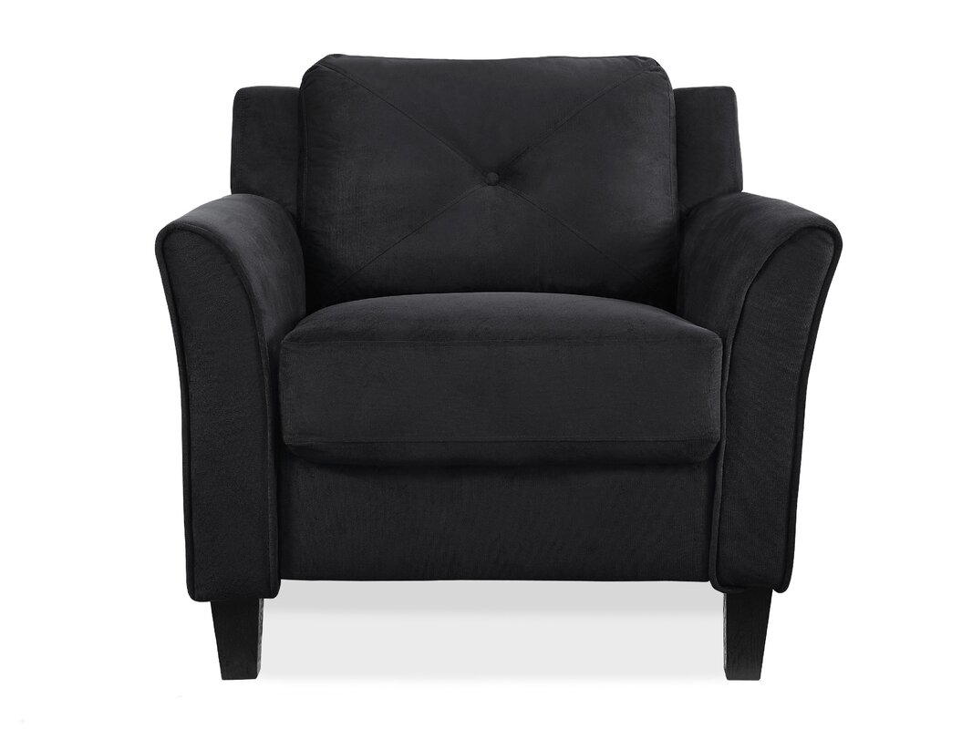 Classic Black Accent Chair Interior