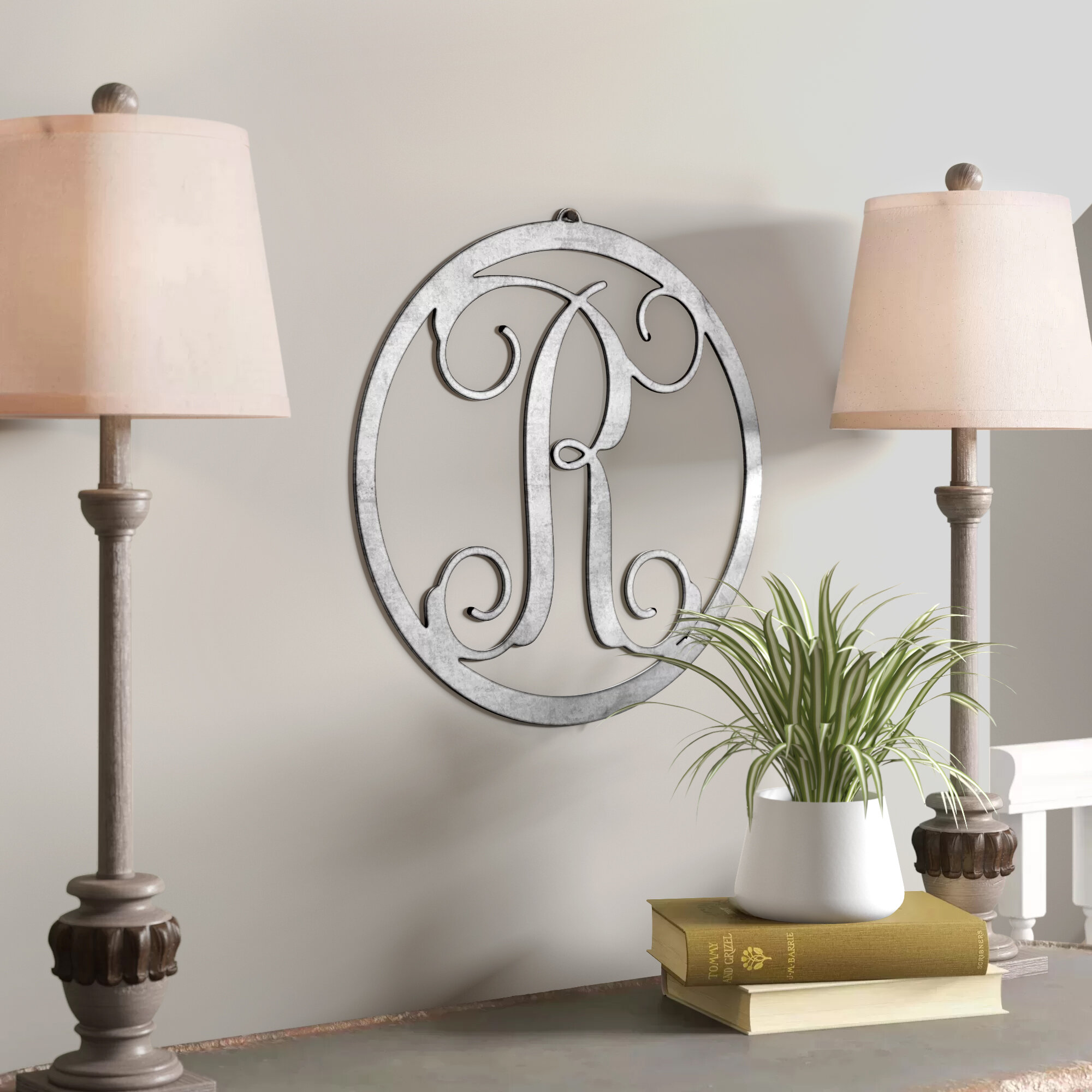 Circle Monogram Wall Decor