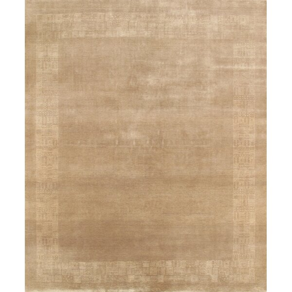 Gabbeh Hand-Knotted Beige Area Rug by Pasargad