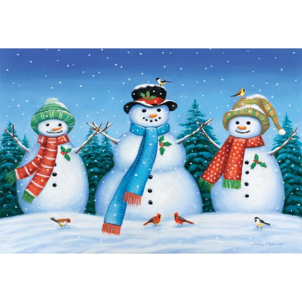 Snowman Family Doormat by The Holiday Aisle