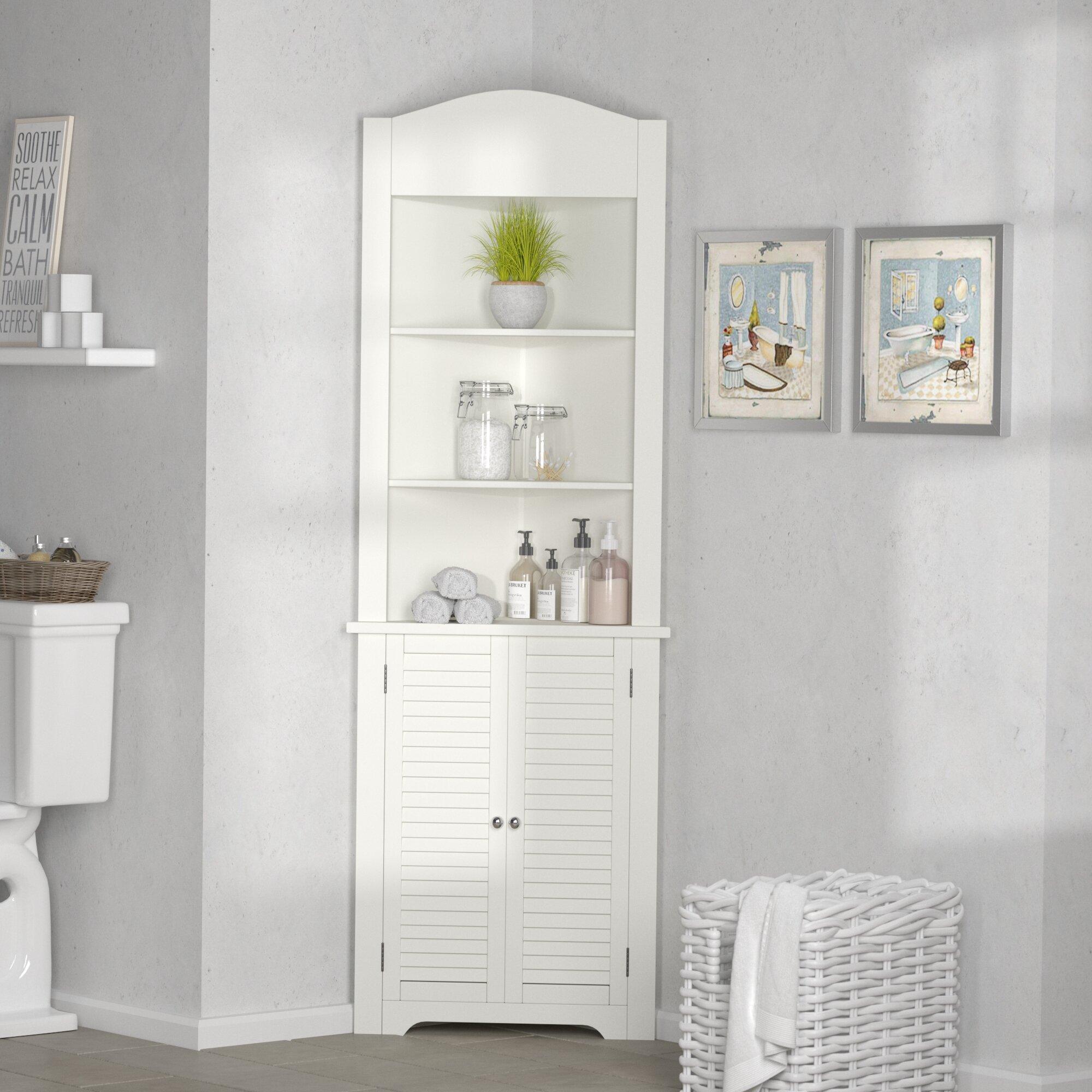 Longshore Tides Ellsworth 59cm W X 174cm H X Tall Bathroom Cabinet Reviews Wayfair Co Uk