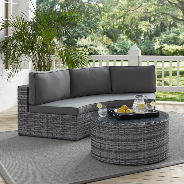 Michal 2 Piece Sectional Seating Group with Cushions by Highland Dunes