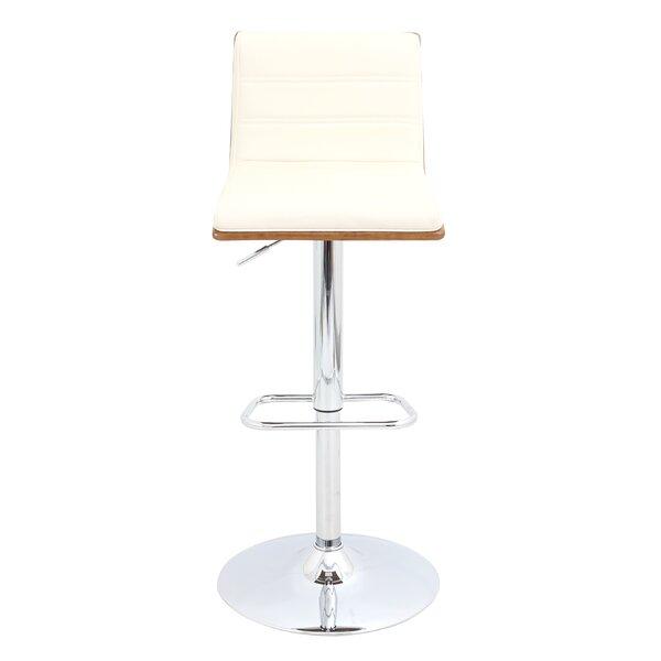 Vasari Adjustable Height Swivel Bar Stool by LumiSource