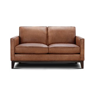 Whitson Leather Loveseat by Foundry Select SKU:EB221437 Reviews