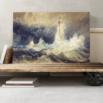 "J M W Turner /'Bell Rock Lighthouse/' Canvas Art 30/"" x 22/"""