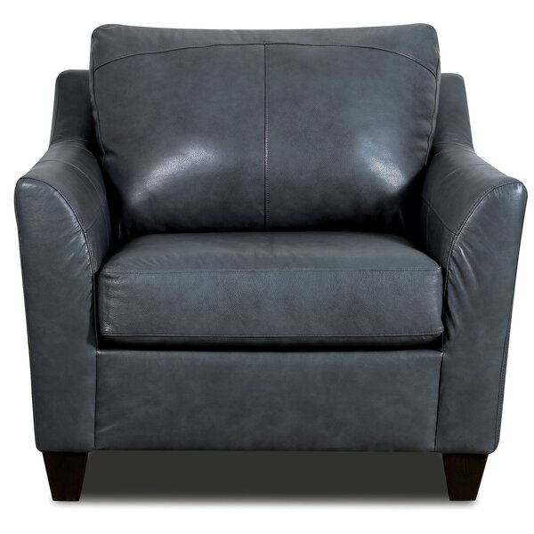 Macaire Top Grain Leather Match Armchair By Red Barrel Studio