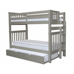 Great Price Treva Tall Twin over Twin Bunk Bed with Trundle By Harriet Bee