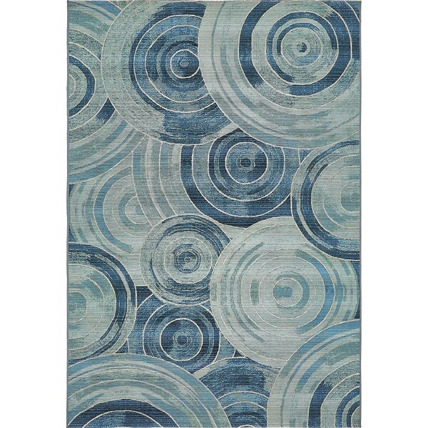 Ivy Light Blue Indoor/ Outdoor Area Rug by Zipcode Design