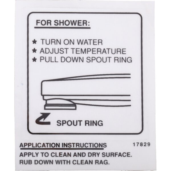 Wall decal for Pull-down Spout Operation by Delta
