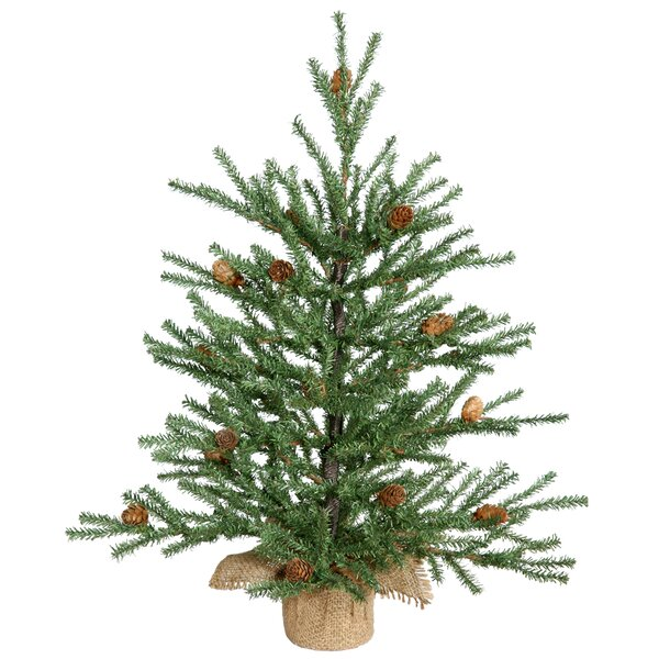 Green Pine Tree Artificial Christmas Tree with Potted Stand by The Holiday Aisle