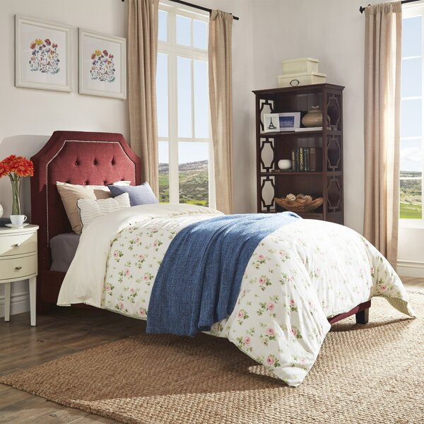 Abbey Twin Upholstered Platform Bed by Three Posts