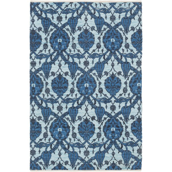 Detwiler Hand-Woven Blue Area Rug by Bungalow Rose