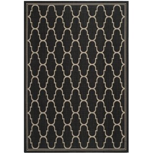 Compare prices Altona Black/Beige Indoor/Outdoor Area Rug By Charlton Home