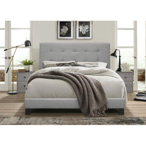 3-Piece Abdiel Upholstered Queen Bed with Dresser Set
