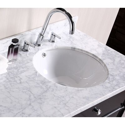 American Imaginations Round Undermount Bathroom Sink