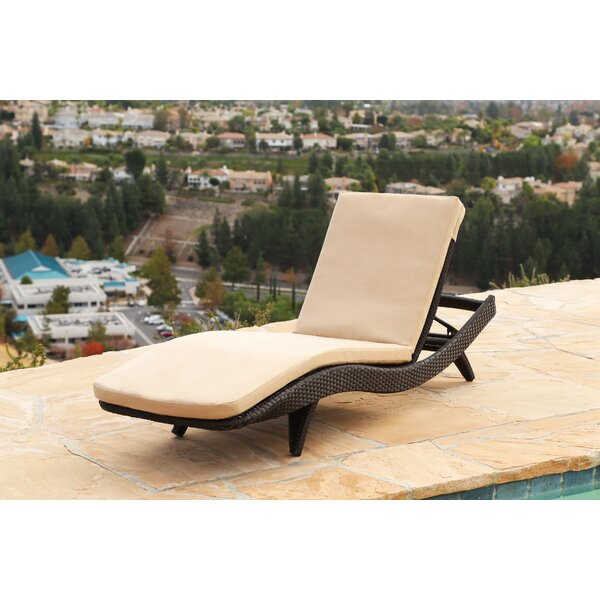 Zanthus Reclining Chaise Lounge with Cushion by Wade Logan Wade Logan