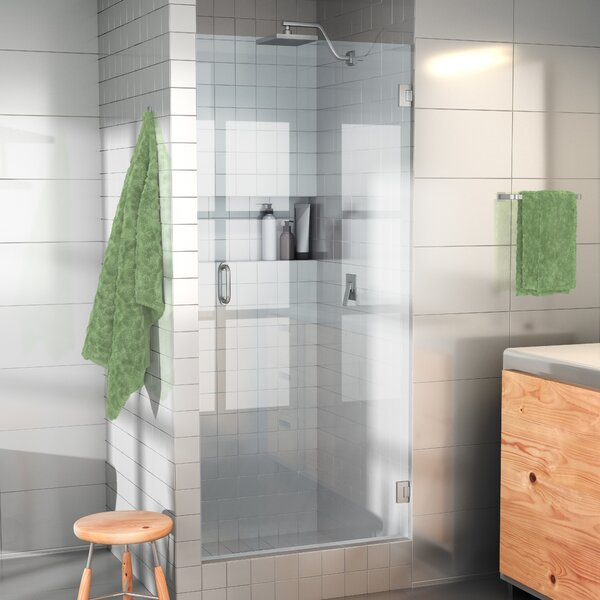 28 x 78 Hinged Frameless Shower Door by Glass Warehouse