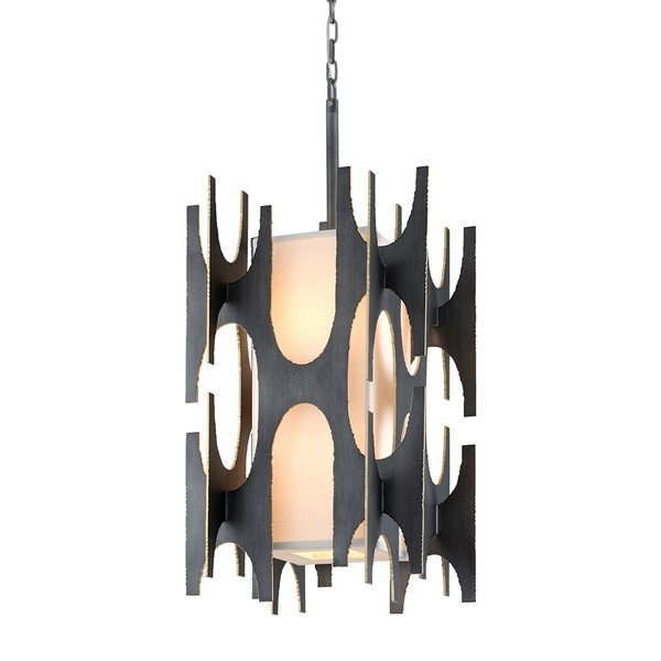 Confidant 8 - Light Lantern Geometric Chandelier By Corbett Lighting