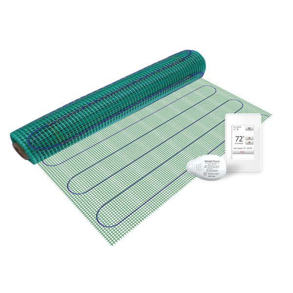 Floor Heating Kit with Easy Mat and NSpire Touch Programmable Thermostat by WarmlyYours