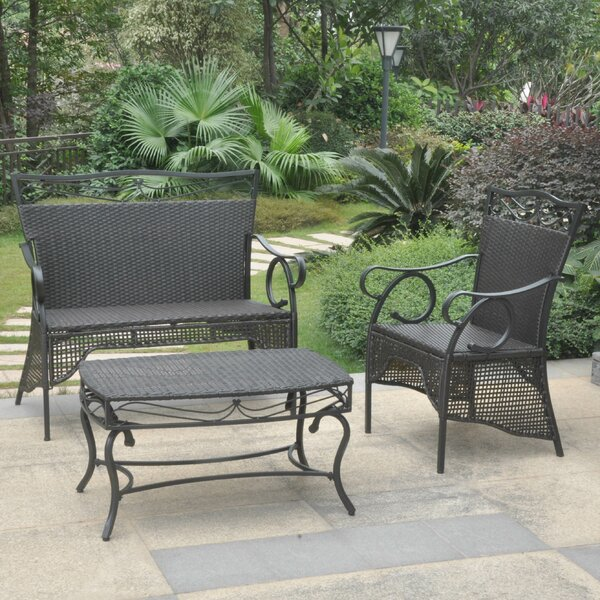Meetinghouse 3-Piece Patio Dining Set by Three Posts