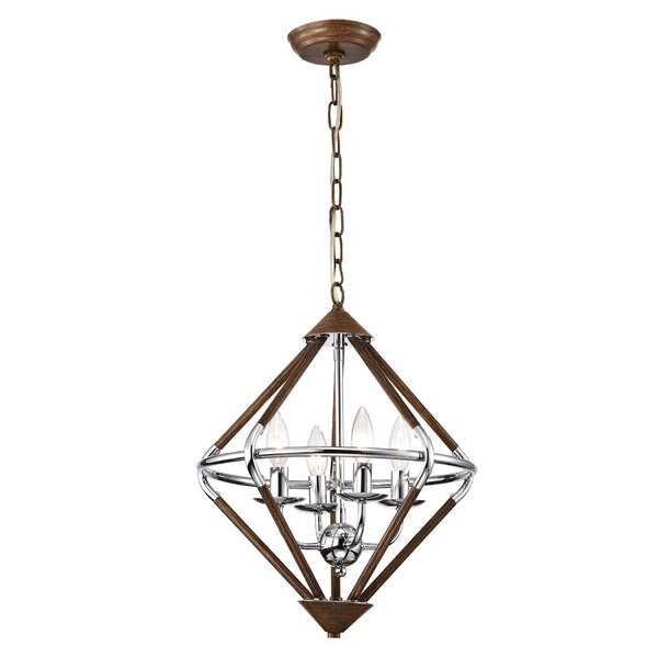 Fremont 4-Light Candle Style Geometric Chandelier By Wrought Studio