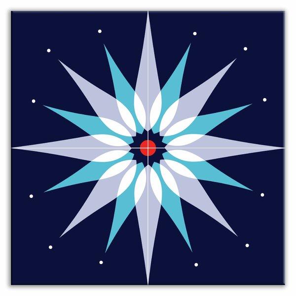 Earth Quads 12 x 12 Satin Decorative Tile Quad in Mod Dew Blue by Oscar & Izzy