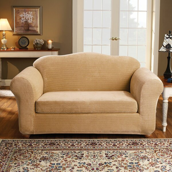 Royal Diamond Box Cushion Loveseat Slipcover by Sure Fit