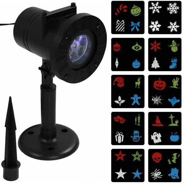 LED Projector with 10 Holiday Patterns Seasonal by The Holiday Aisle
