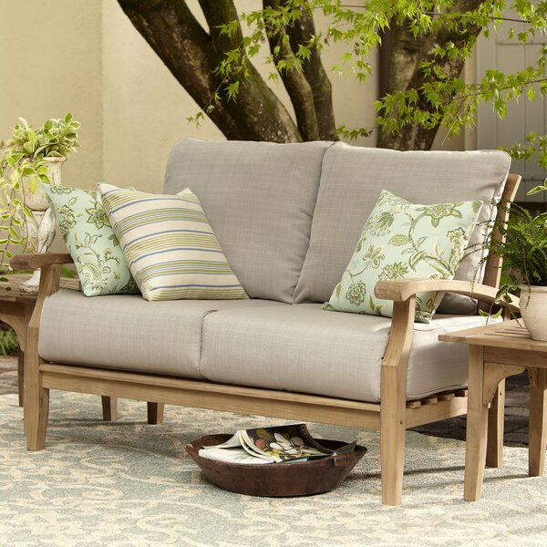 Summerton Teak Loveseat with Cushions by Birch Lane™