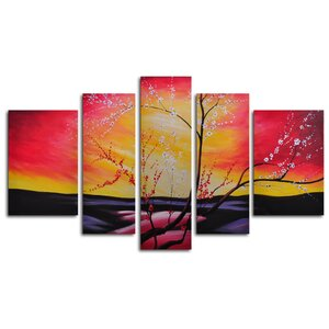 The Great Beyond 5 Piece Painting Print on Wrapped Canvas Set by My Art Outlet