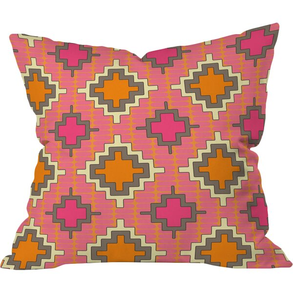 Tangerine Kilim Outdoor Throw Pillow by East Urban Home