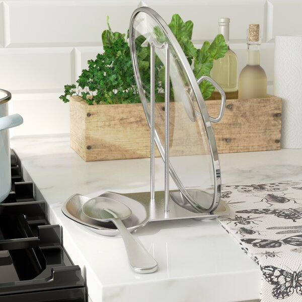 Stainless Steel Spoon and Lid Rest by Rebrilliant