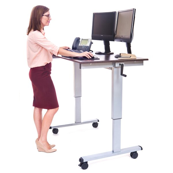 Belvedere Casters Standing Desk by Symple Stuff