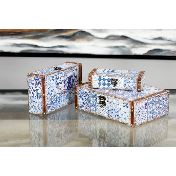 Causby Traditional Suitcase 3 Piece Decorative Box Set with Lid by Bloomsbury Market