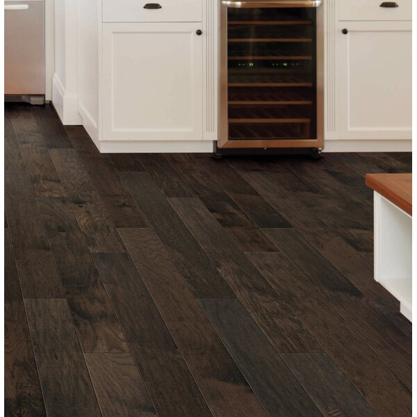 Monaco 5 Engineered Hickory Hardwood Flooring in Umber by Branton Flooring Collection