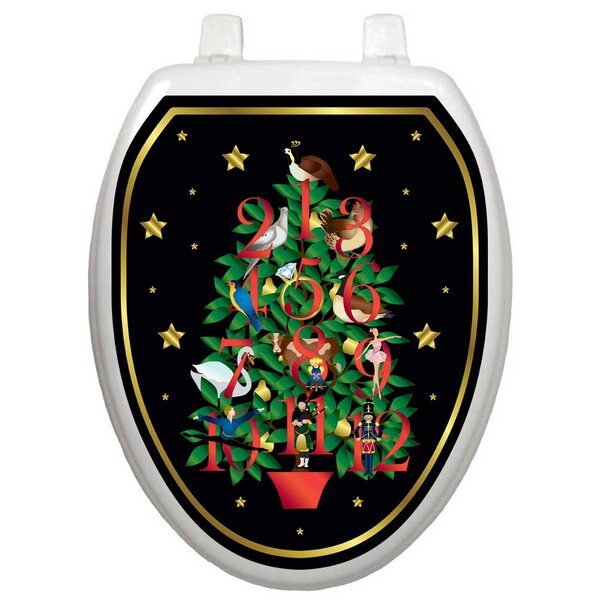 Holiday Twelve Days Of Christmas Toilet Seat Decal by Toilet Tattoos