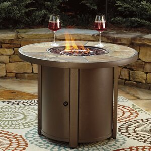 Thelma Aluminum Propane Fire Pit Table