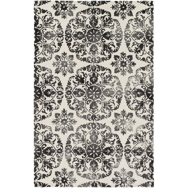 Dilworth Hand Tufted Black Area Rug by Bungalow Rose