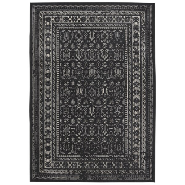 Gildea Black Area Rug by Bloomsbury Market