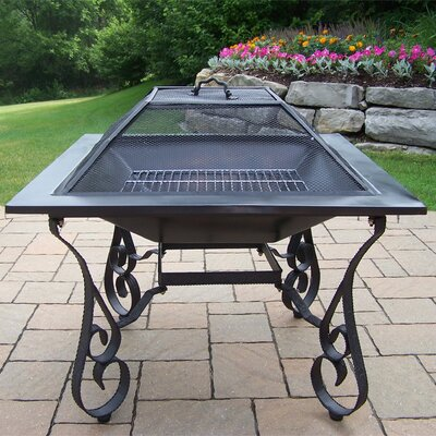Fire Pits Stainless Steel Wood Burning Fire Pit Oakland Living